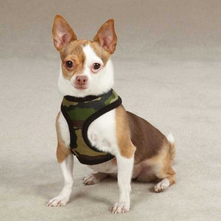 Casual Canine Fabric Camo Harness S