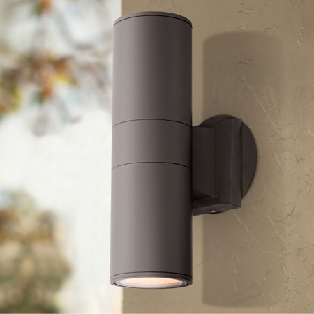 Brown Outdoor Wall Light (Possini Euro Design Possini Euro Ellis 11 3/4
