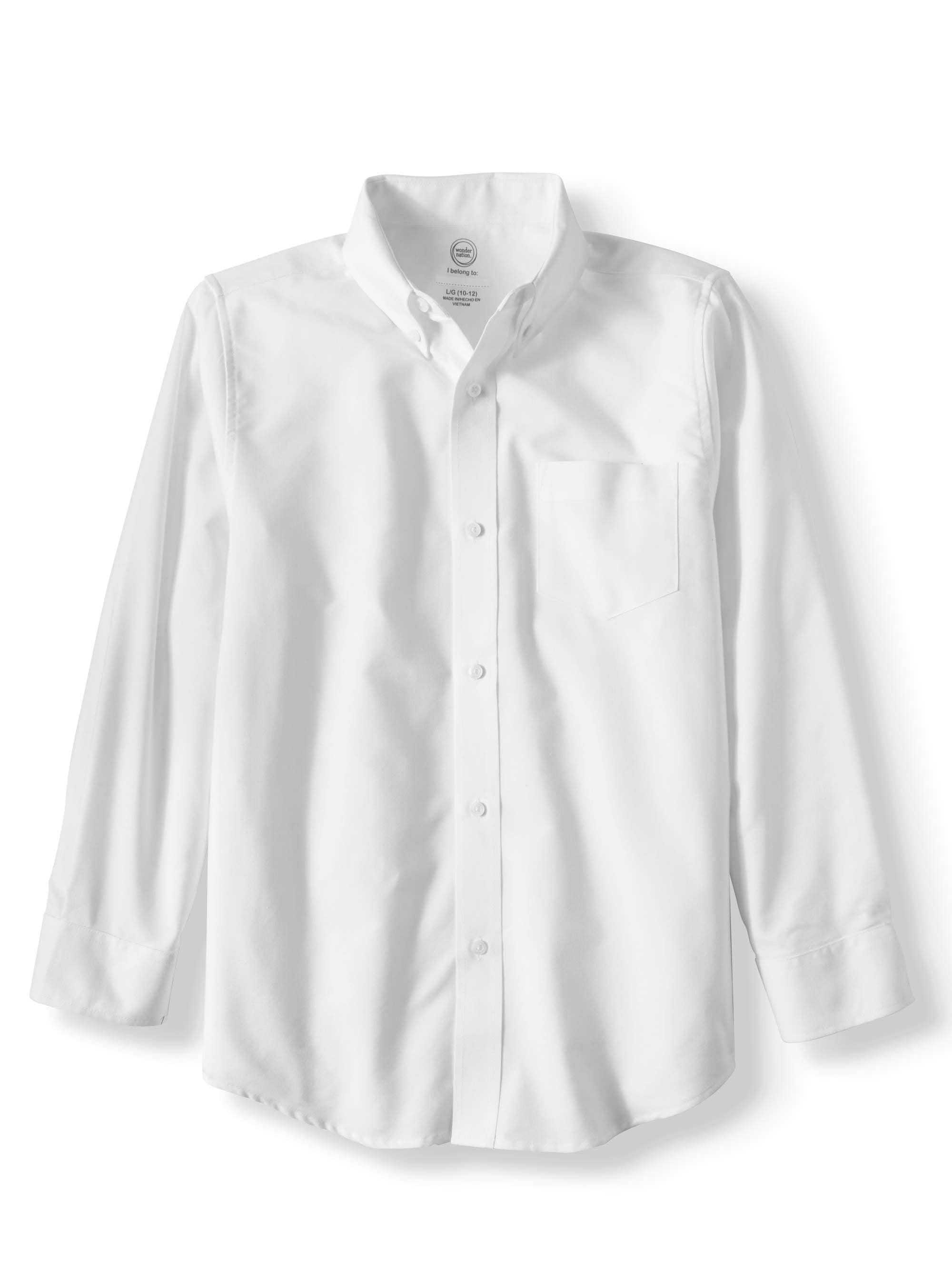 Nautica Boys Big School Uniform Short Sleeve Oxford Shirt