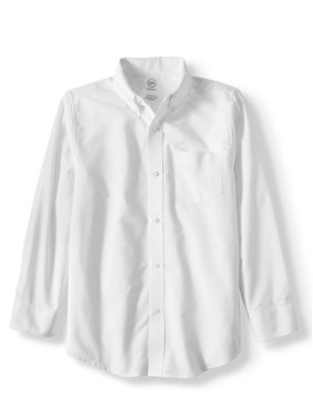 Wonder Nation Boys 4-18 School Uniform Long Sleeve Button-Up Oxford Shirt