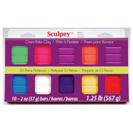 POLYFORM PRODUCTS COMPANY S3MP05001 SCULPEY 3 MULTI PACK BRIGHT COLORS