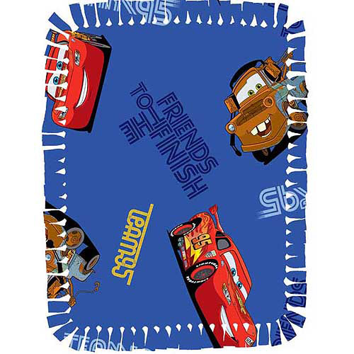 Creative Cuts Microfiber No Sew Throw Kit, Disney Cars, Blue