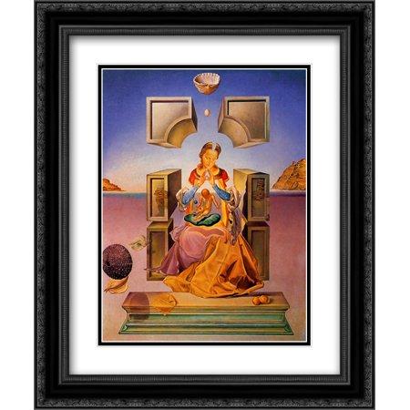 Salvador Dali 2x Matted 20x24 Black Ornate Framed Art Print 'Madonna of Port - Dali Madonna Of Port Lligat