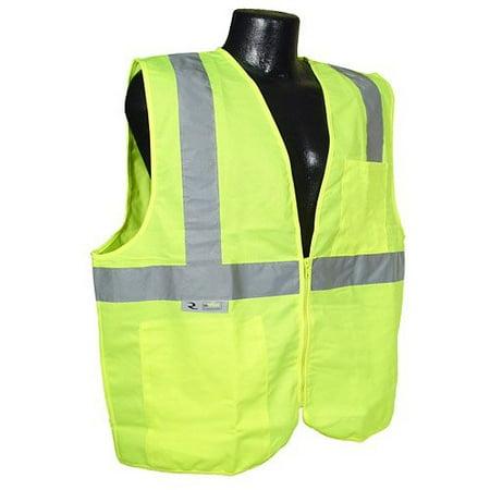 - SV2ZGSL Hi Vis Green 2 Pocket Class 2 Economy Vest Large Solid 2