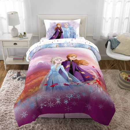 Disney's Frozen 2 Kids Bed in a Bag Bedding Set w/ Reversible Comforter, Spirit of Nature (Frozen Bed Twin Set)
