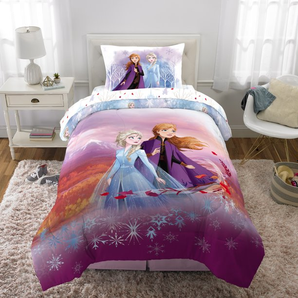 Frozen 2 Bed in a Bag, Kids Bedding Bundle Set, 4 Piece Twin