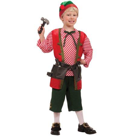 Toy Maker Elf Child Costume (M) - Kids Elf Costumes