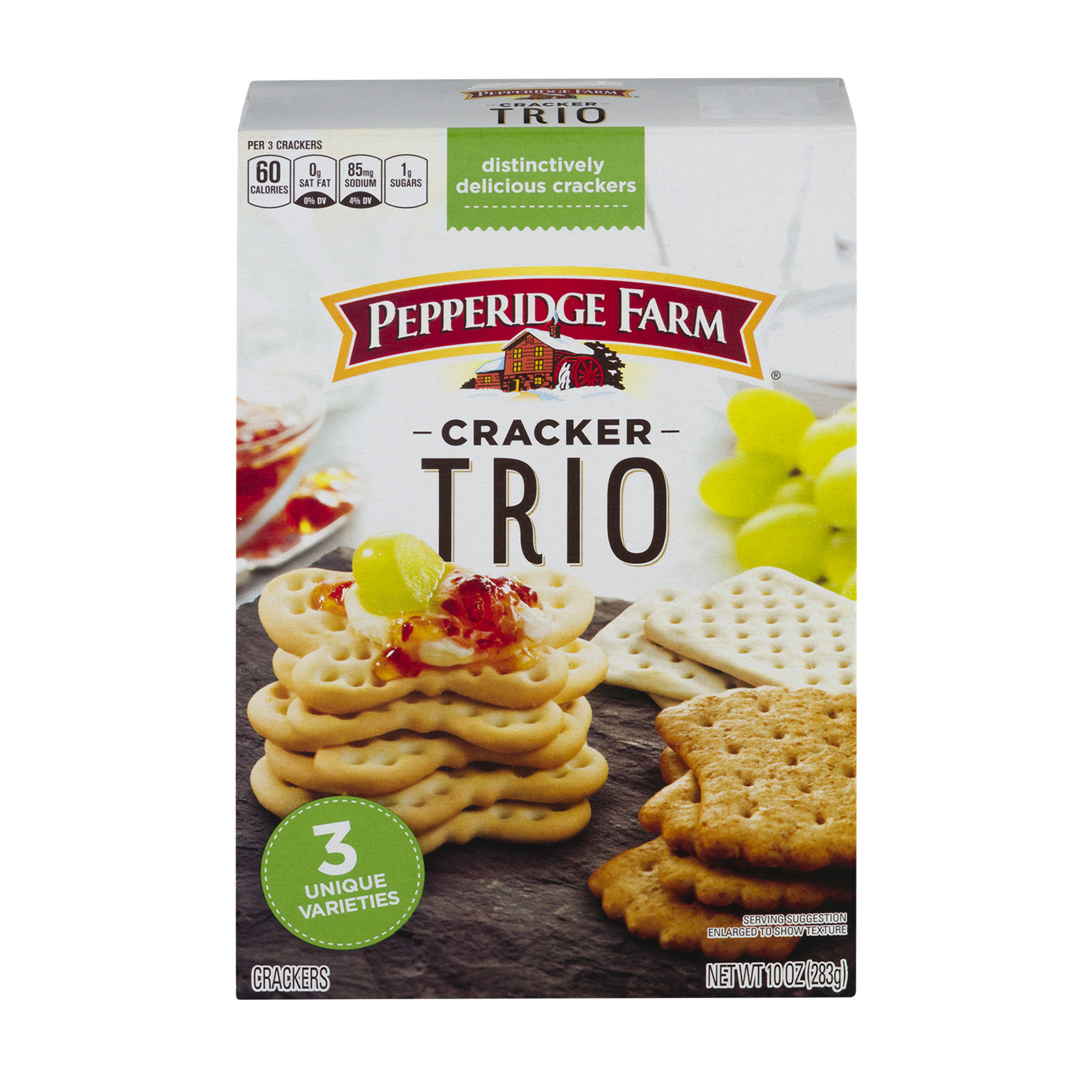 (2 Pack) Pepperidge Farm Trio Variety Crackers, 10 oz. Box