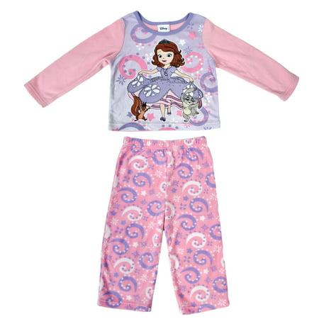 Princesses Sofia Toddler Girls 2Pc Fleece Pajama Set Size 2T - Toddler Sizes 2t