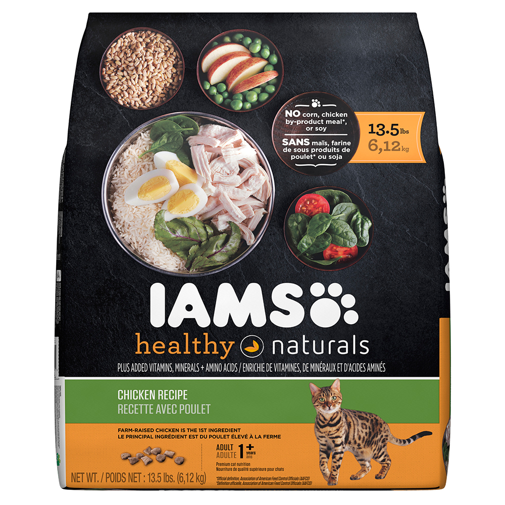 IAMS Healthy Naturals Chicken Recipe Dry Cat Food 13.5 Pounds