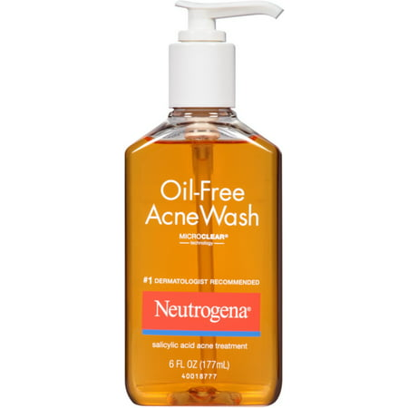 Neutrogena Oil-Free Acne Wash 6 oz (Pack of 4)