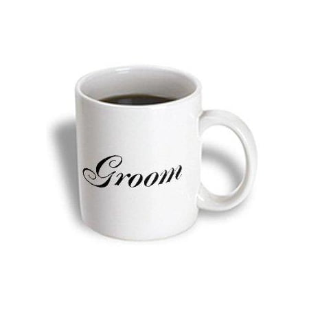 3dRose Groom - part of bride and groom set - couples gift - wedding marriage just married bachelor party, Ceramic Mug, 11-ounce](Groom To Bride Gift)