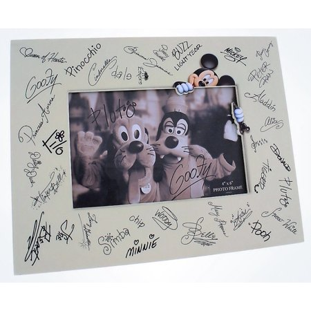 Disney Parks Character Autographs Signatures Photo Frame 4