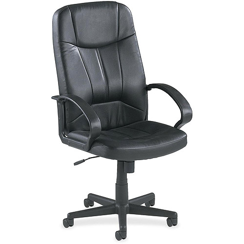 Lorell Chadwick Executive Leather High-Back Chair, Black