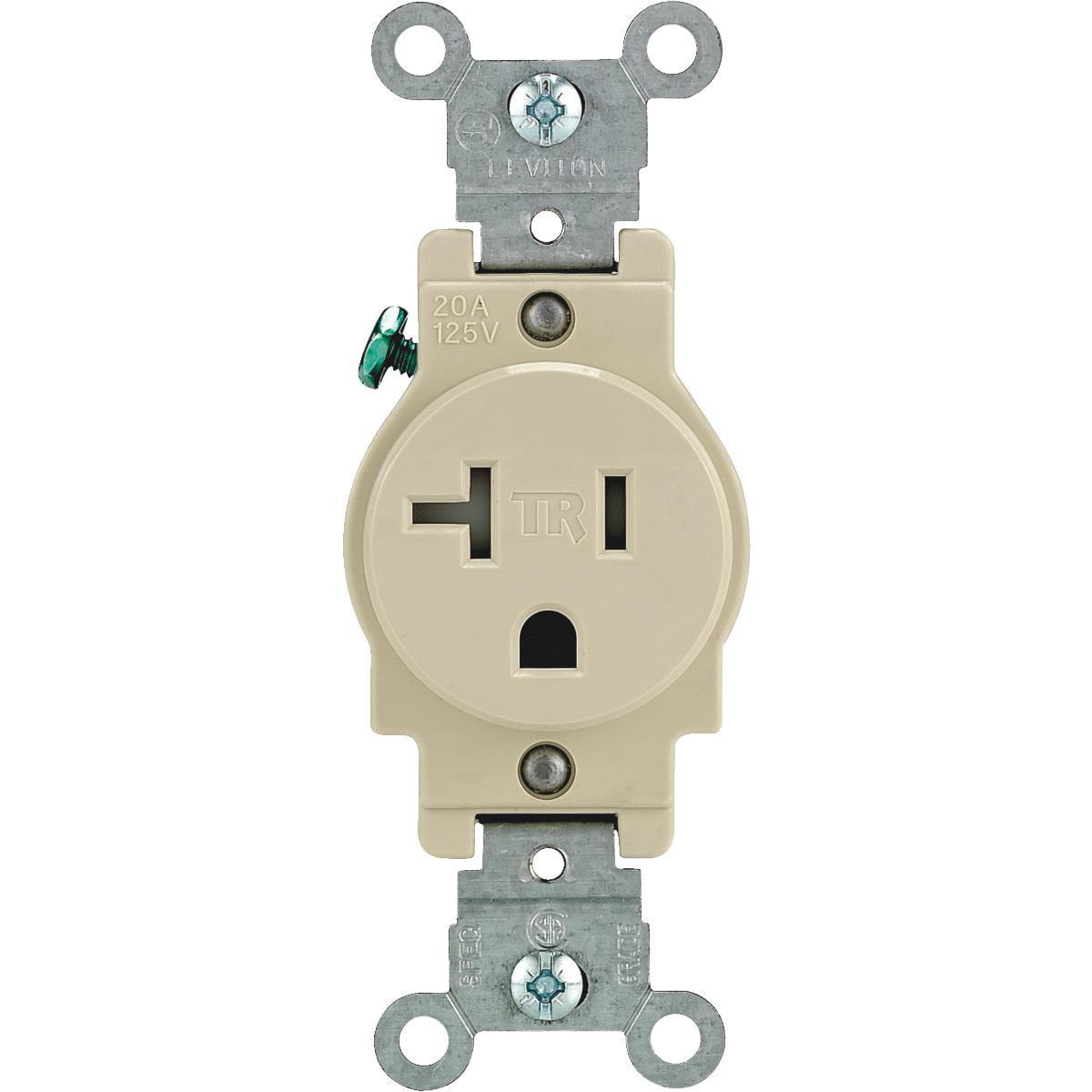 Leviton Commercial Grade Tamper Resistant Single Outlet