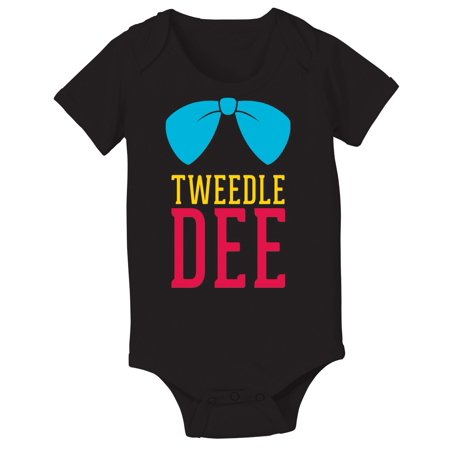 Tweedle Dee Retro Novelty Nostalgic Cartoon-Baby One Piece - Tweedle Dee