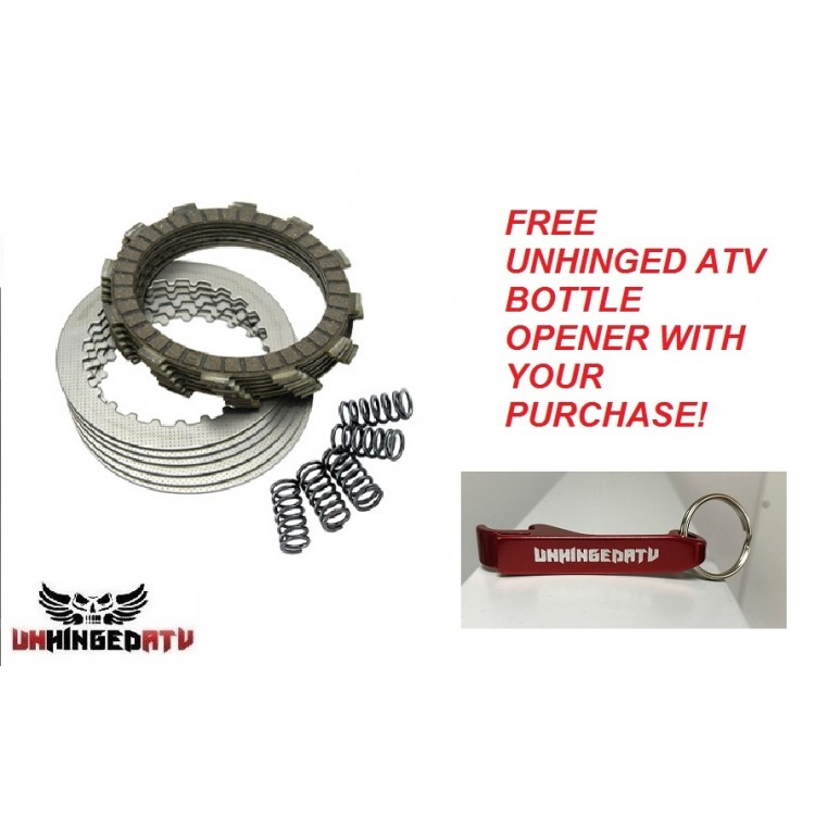 Tusk Clutch Kit With Heavy Duty Springs and Free Unhinged ATV Bottle Opener! – Fits: Honda TRX 200SX FOURTRAX 1986–1988