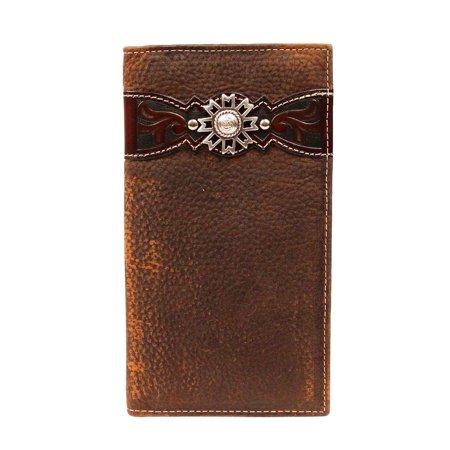 Ariat Western Wallet Mens Rodeo Overlay Leather Brown A3514202