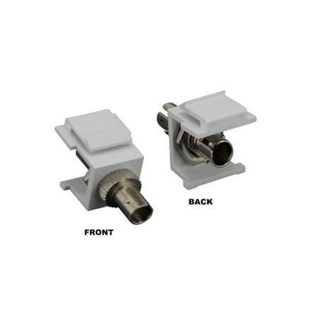 - Kentek Fiber optic ST simplex keystone modular jack adapter coupler multimode