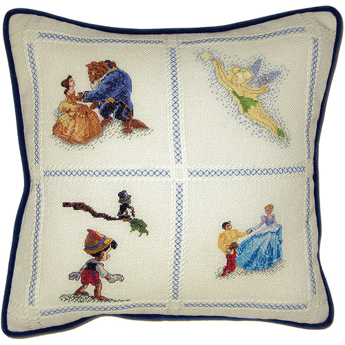 "Disney Dreams Collection Pillow Counted Cross Stitch Kit, 14"" x 14"" 18 Count"