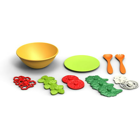 Green Grocery Set (Green Toys Plastic Salad Set )