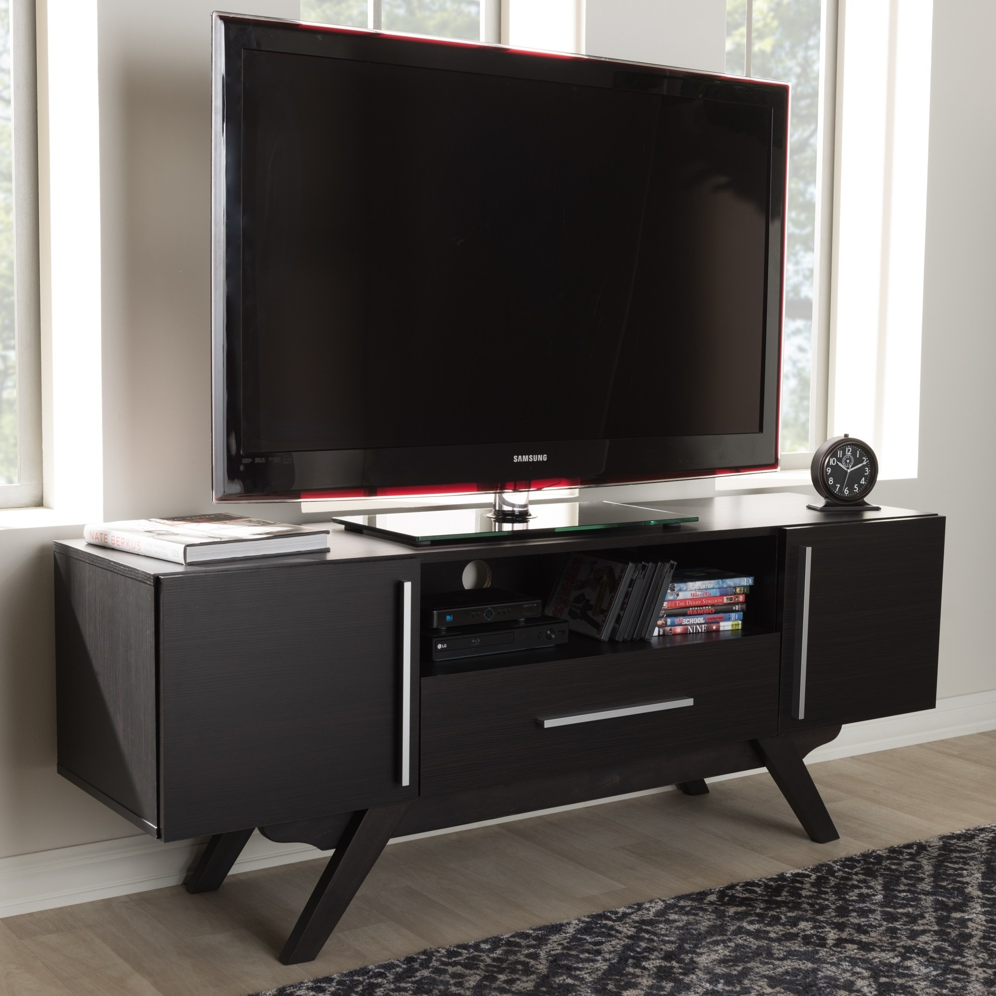 Baxton Studio Mid-Century Brown TV Stand by