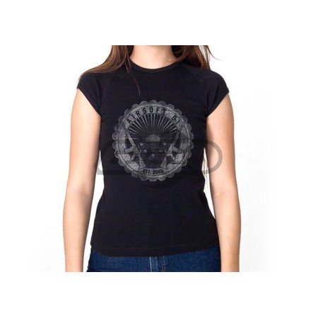 Airsoft GI Seal Of Success Girl T-Shirt ( Black & White / L ) Airsoft Electric Lpeg Rifle