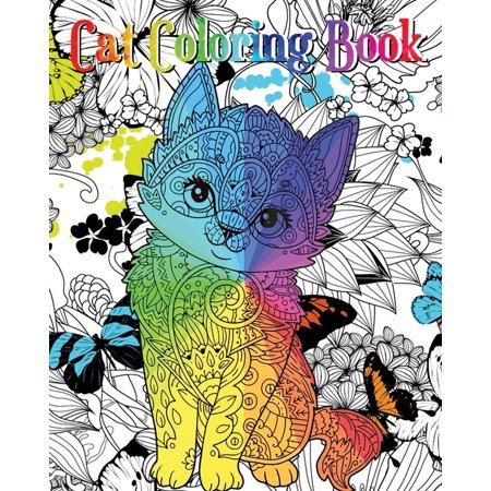 Cat Coloring Book : An Adult Coloring Book with Fun, Easy and Relaxing Coloring Pages (Coloring Books for Cat Lover) - Halloween Coloring Pages Cats