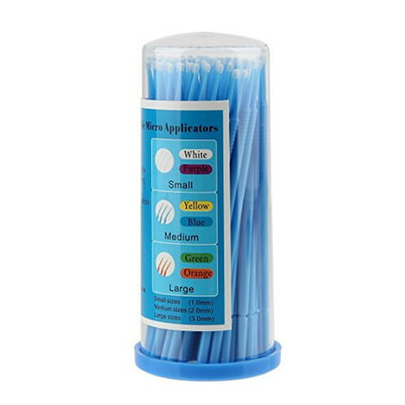 100 Pack Eyelash Extensions Disposable Micro Brushes ()