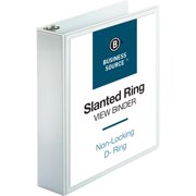 Business Source, BSN28442, Basic D-Ring White View Binders, 1 / Each, White