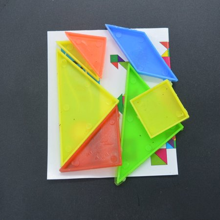 20Packs Rainbow Tangram Puzzle Plastic Mini Puzzle Board DIY Puzzle Toy - image 1 of 5