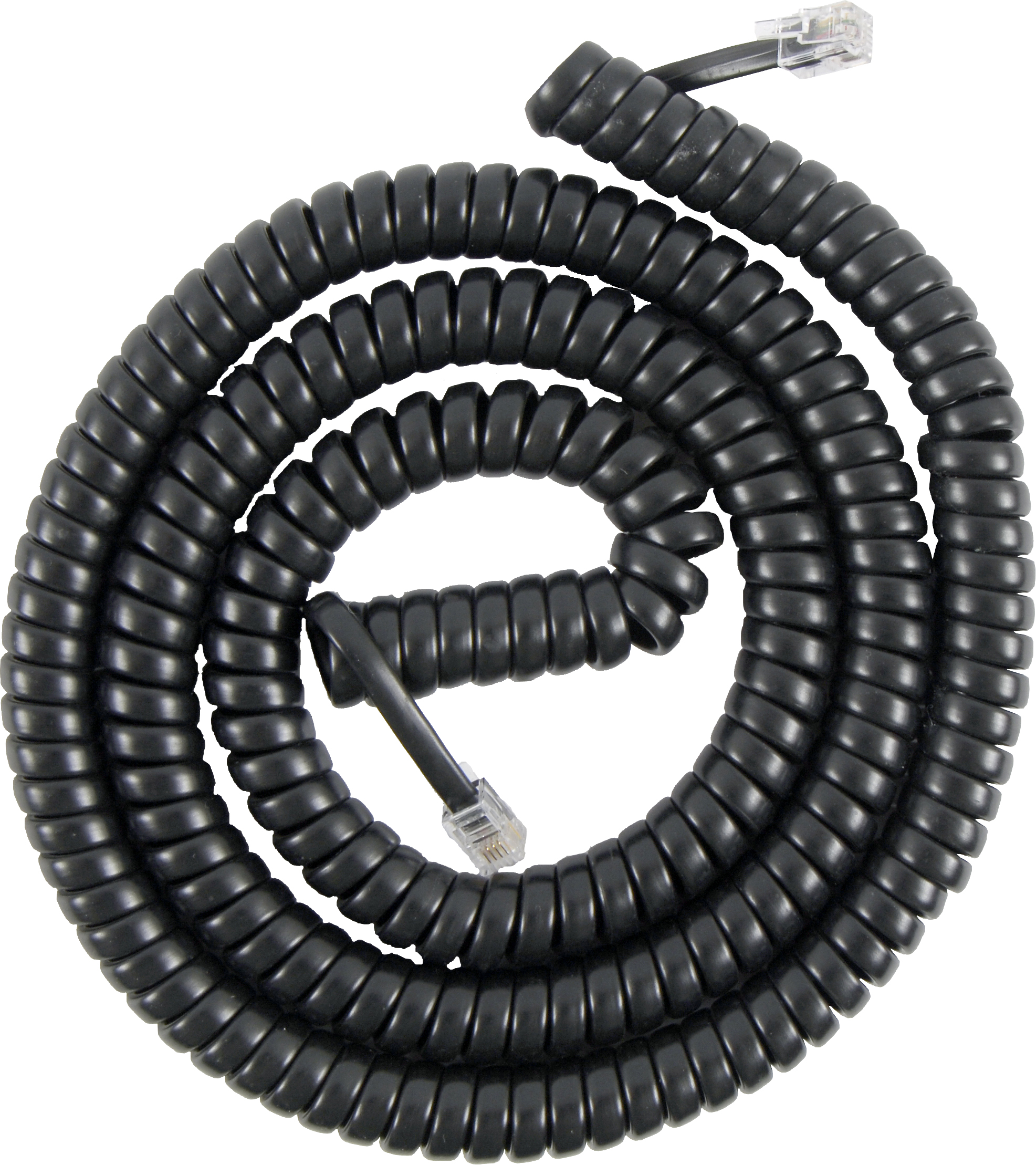 50 NEW BLACK 7/' TELEPHONE HANDSET CORD FREE SHIP USA