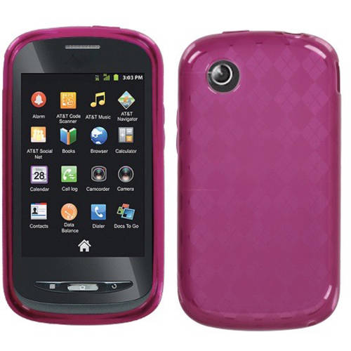 ZTE Z990 Avail MyBat Candy Skin Cover, Hot Pink Argyle