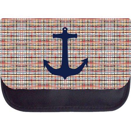 Navy anchor on modern crisscross 5