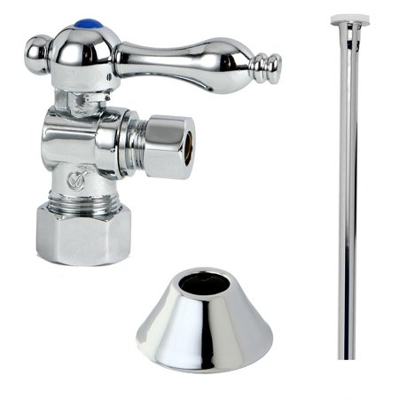 Kingston Brass Decorative Chrome Toilet Supply Kit