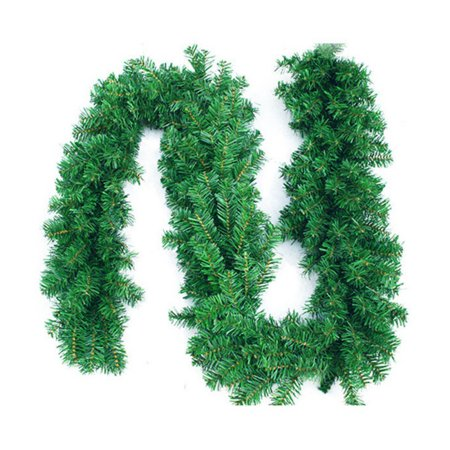 Artificial Spruce Christmas Garland ,8.8 Foot Soft Green Green Garland for Christmas Decorations Christmas Artificial Pine Garland, Outdoor or Indoor,Wedding Party ()