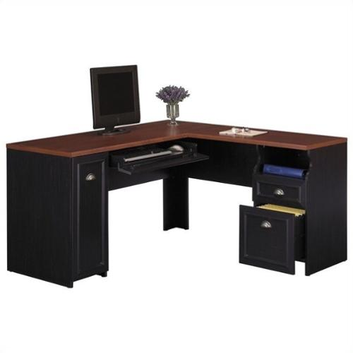 Bush Fairview Lshaped Wood Computer Desk In Black. Best Place To Buy Office Desk. Compact Desks For Small Rooms. Electronic Cash Drawer. Velvet Jewelry Dividers For Drawers. Counter Height Patio Table. Ikea Round Table. Filing Cabinet With Drawer Organizer. Card Table Tablecloth