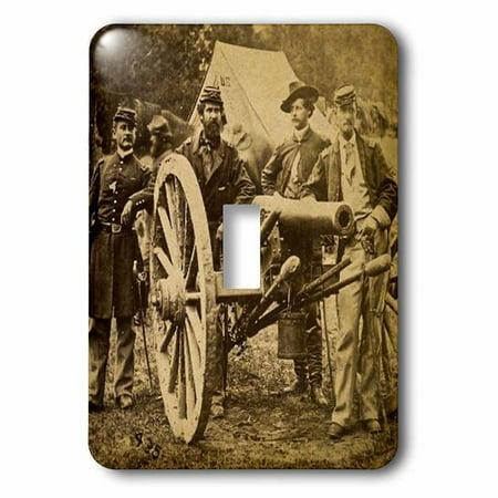 3dRose Civil War 1862 Battle of Fair Oaks Virginia Stereoview Socket Plate - Halloween Fair Oaks