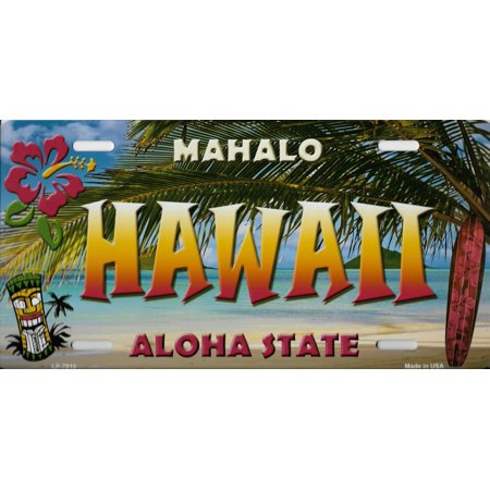 Hawaii State Background Metal License Plate ()