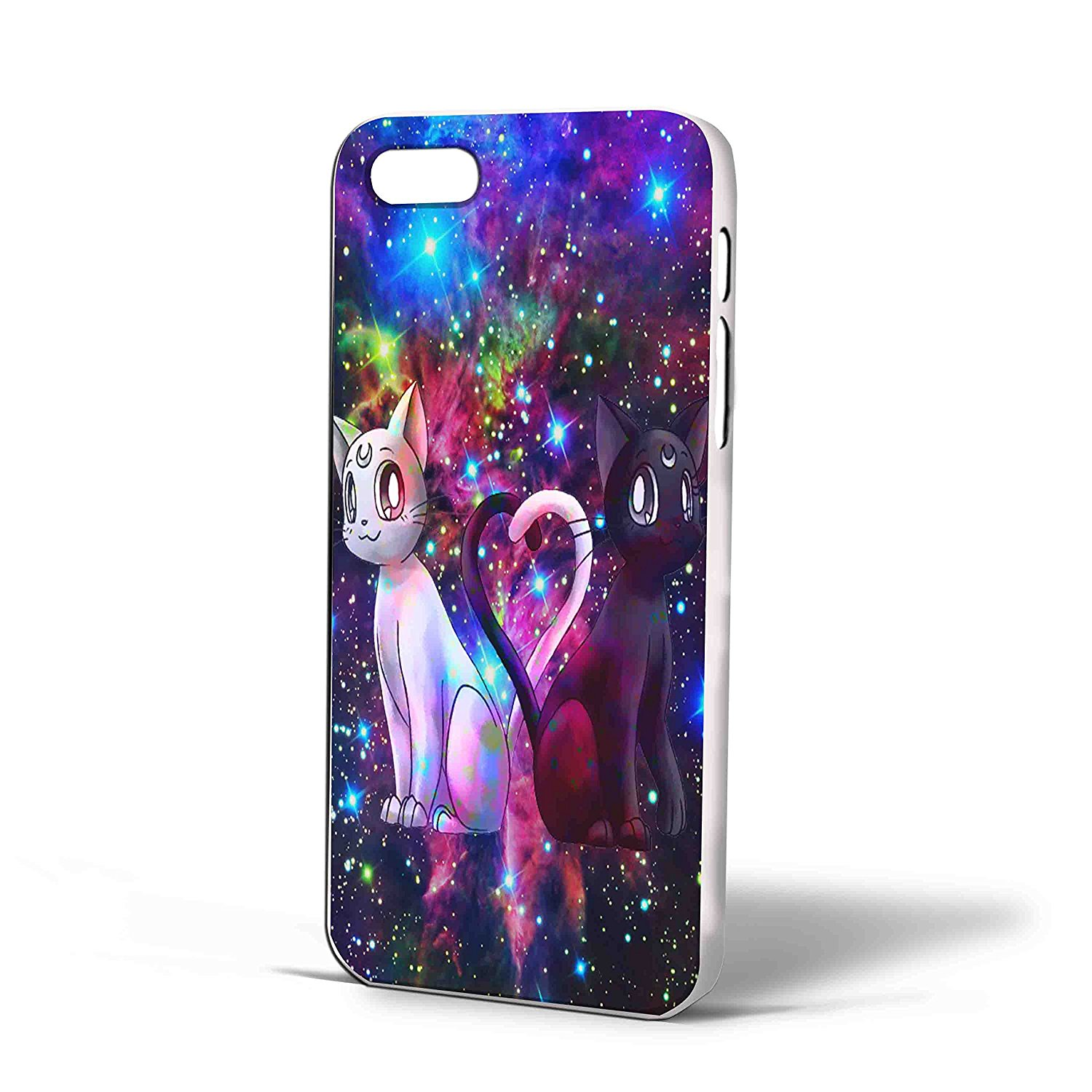 Ganma Artemis and Luna Sailor Moon Galaxy Case For iPhone Case (Case For iPhone 6s plus White )