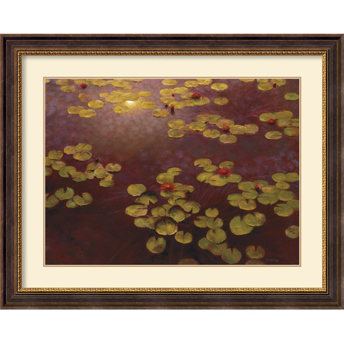 Amanti Art 'Lilies and Light' by Greg Singley Framed Painting Print