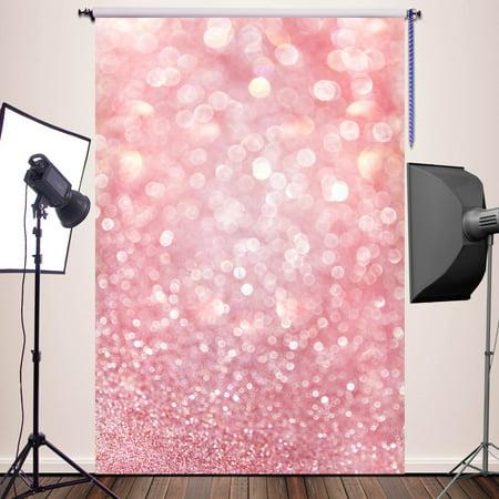 Christmas Girl Photo (GreenDecor Polyster 5x7ft Pink Bokeh Backdrop Newborn Photography Props Girl christmas photo booth backdrop Photography Backdrops Background)