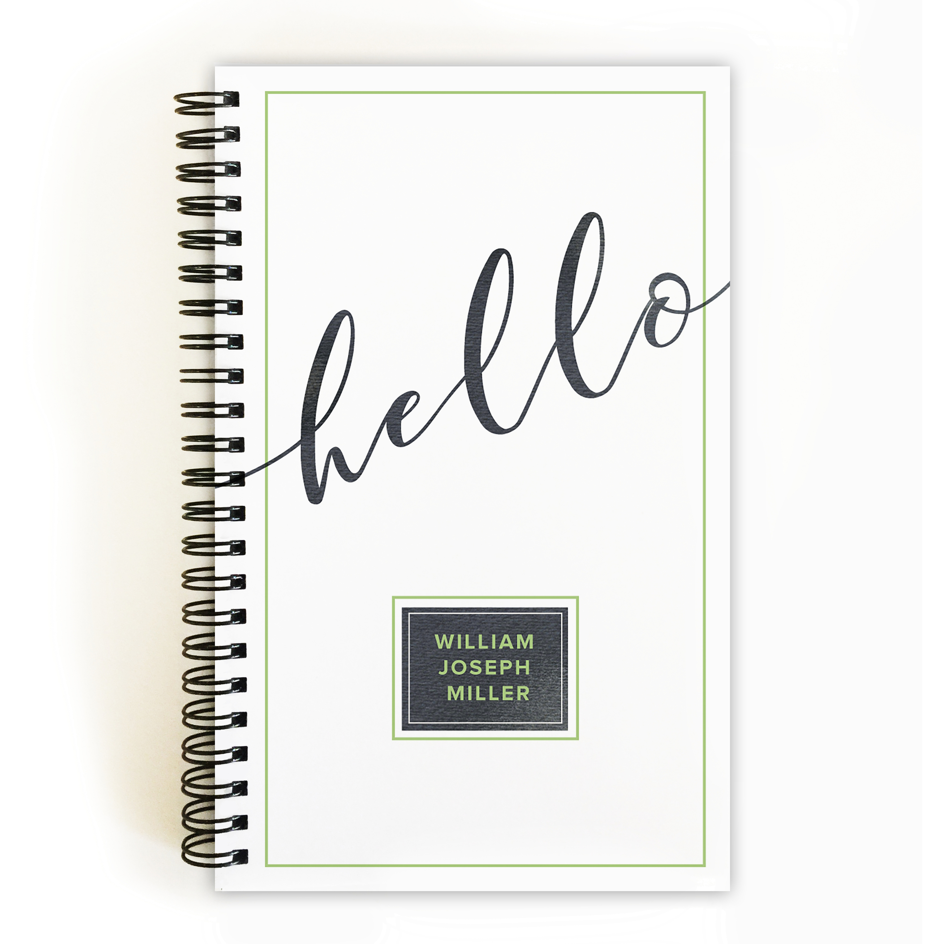 Graceful Script - Personalized 5 x 8 Notebook