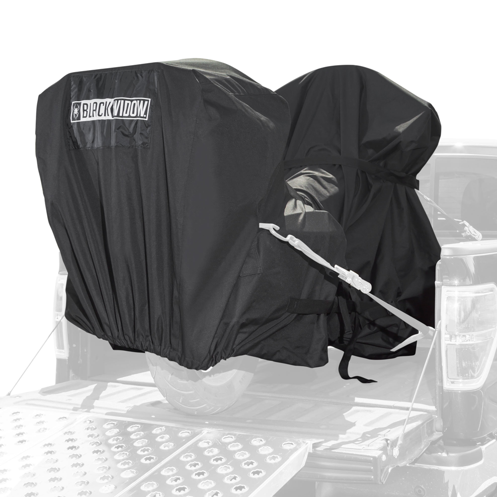 Black Widow Motorcycle Trailering Cover Full Dresser Cruiser V-Twin
