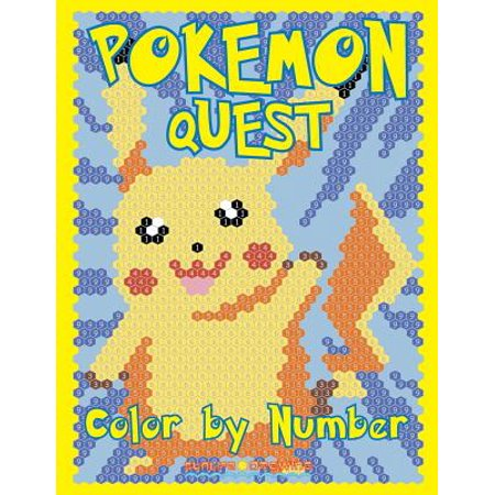 Pokemon Quest Color by Number : Activity Puzzle Coloring Book for Children and - Colors For Kids