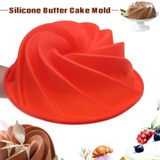 Large Bundt Swirl Silicone Butter Baking Mold Cake Pan Bread Cupcake Mould Bakeware Baking Supplies