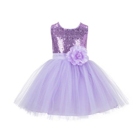 Sparkle Bridesmaid Dress - Ekidsbridal Formal Sparkling Sequins Tulle Flower Girl Dress Bridesmaid Wedding Pageant Toddler Easter Holiday Spring Summer Recital Communion Birthday Baptism Ceremony Special Occasions 124