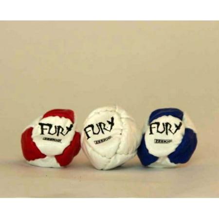 Triple the Fury - Zeekio Fury Footbag - 3 Sack Set -Hacky Sack