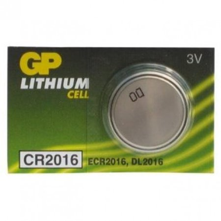 GP Batteries - CR2016 - 3V Lithium Cell Battery, 5 Pack, For Remotes, Transmitters, Electronics, Watches, Photos, Cameras, Calculators, Computer Memory Lithium Photo Camera Battery