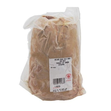 Canadian Duck Foie Gras, Whole Grade A - 1.1-1.8 Lb. - Not For Sale in CA